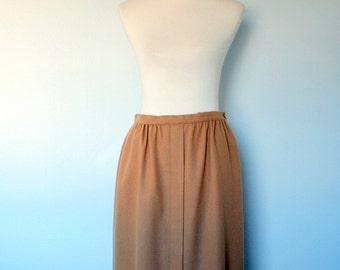 Vintage Pendleton Skirt / 70s Wool Midi Skirt / Small