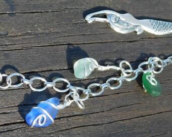 Recycled Sea Glass Mermaid Bookmark