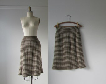 vintage Missoni skirt / zig zag wool skirt