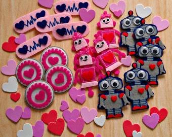Robot Valentine Kit (makes 30 cards) DIY Kids