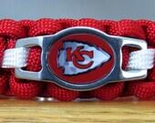 Kansas City Chiefs Bracelet, Paracord Bracelet, Survival Bracelet