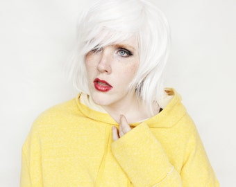 SALE Short White wig | Scene Emo wig | White Emo wig | Cosplay wig, Halloween wig | White Fox