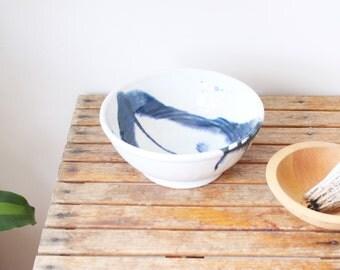 large vintage pottery serving bowl