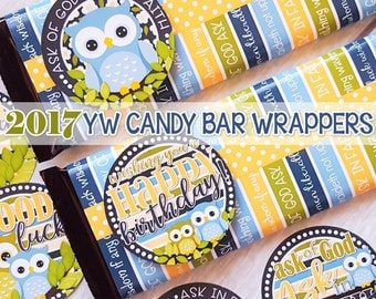 2017 YW Themed Candy Bar Wrapper, Birthday Tags, 2017 YW Theme Printables, Gift Ideas, LDS Young Women, James 1:5-6 - Instant Download