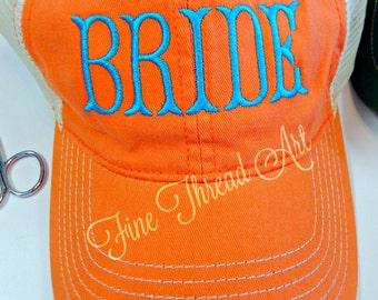 Ladies Trucker Hat Bride Mesh Back Baseball Cap Hat Mom Bridesmaid Bachelorette Party Wedding