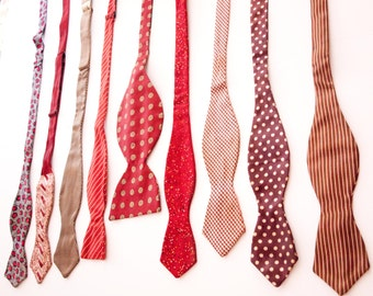 Vintage Bow Tie Collection / 9 ties