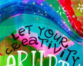 Let your Creativity Erupt  - JUMBO magnet