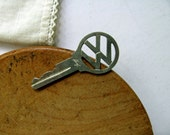 Vintage Volkswagen VW Key Bug Beetle Volkswagon Huf Open Cut Out Numbers Old Car Key Chain Auto Necklace Tag Charm Jewelry Craft Supplies