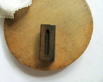 Vintage Letterpress Letter D Printers Block Initial Alphabet Name D Stamp Stripes Wooden Block Wood Type Printing Home Decor Office Art