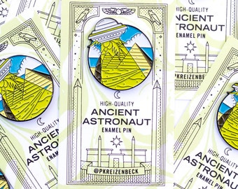 "Ancient Astronaut 1.25"" Enamel Pin"