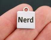 Nerd Stainless Steel Charm - Exclusive Line - Quantity Options - BFS312
