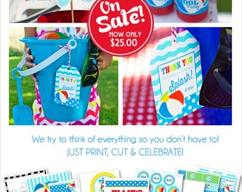 Pool Party Decorations   Swimming Pool Birthday   Summer Birthday Party   Beach Birthday   Pool Party Banner   Amanda's Parties To Go