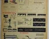 Vintage Physics Chart The APPLICATIONS OF SOUND
