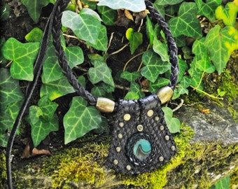 Black Collar with gemstone