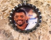 Mrs. Russell Wilson Seattle Seahawk Bottle Cap Necklace- Proceeds Benefit Cancer Research