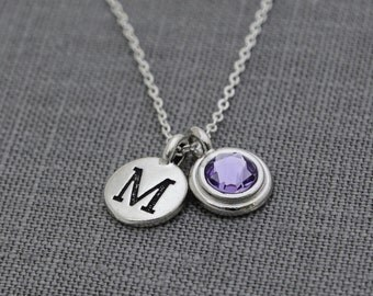 Mothers Necklace Birthstone, Personalized Mother's Gift for Mom, Personalized Necklace for Women, Initial Necklace for Mom