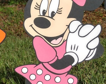 Pink Minnie Mouse Decoration Stand Up - standee - Party Prop, Disney Decor Mickey Mouse