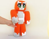 "Minecraft inspired Stampy cat 16"" plush doll Stampy long nose Custom made Geek softie - MADE TO ORDER"