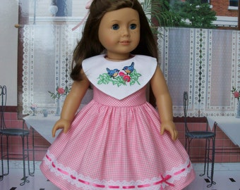 """Embroidered Spring Dress /  Clothes for American Girl Maryellen, Kit or other 18""""  Dolls"""