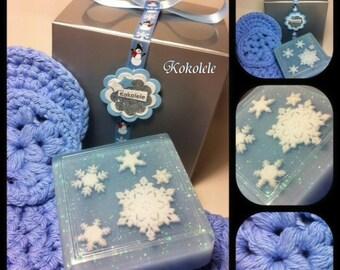 Christmas Gift Set  - Body Soap ~ Washcloth ~ Scrubbies
