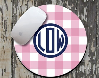 CHECK Personalized Mouse Pad, Personalized Mousepad, Monogrammed Mouse Pad, Monogrammed Mousepad, Custom Mouse Pad, Custom Mousepad