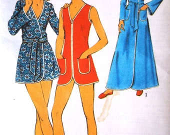 Reserved do not buy Style 4133 Vintage 1970s Beach House Robe Sewing Pattern B 38 inches Free UK Postage1