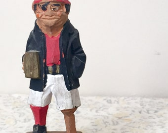 Vintage Folk Art Sailor on Peg Leg