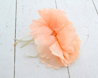 1920s Peach Millinery Flowers