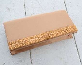 1990s Gold Satin Beaded Clutch
