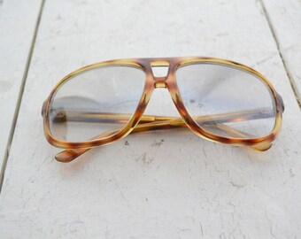 1970s Mirrored Tortoiseshell Aviator Sunglasses