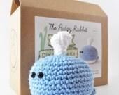 Crochet Whale Kit, AmigurumiWhale Kit, DIY Crochet Kit, Learn to Crochet, DIY Craft