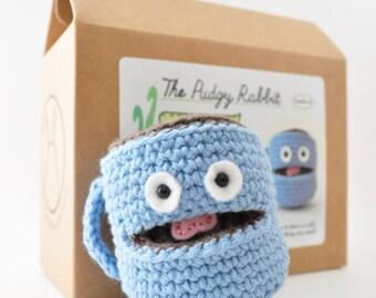 Amigurumi Coffee Mug Kit, Crochet Kit, DIY Craft Kit, Learn to Crochet, Coffee Crochet Pattern
