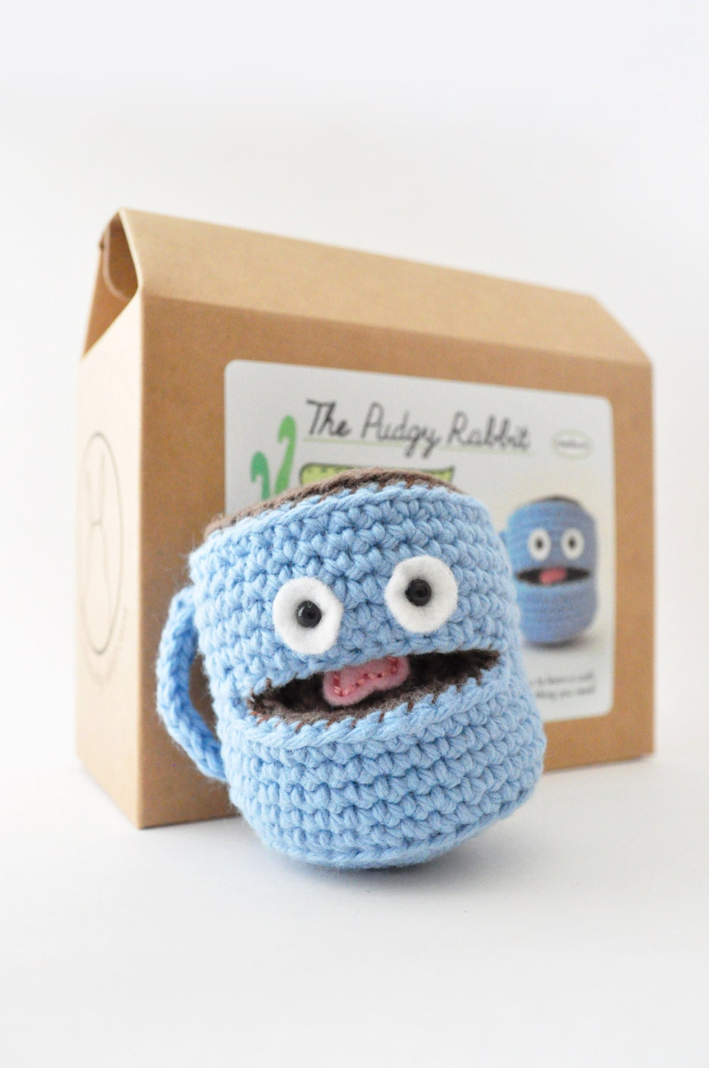 Amigurumi coffee mug kit crochet kit diy craft kit learn to for Coffee mug craft kit