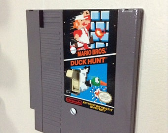 Nintendo Light Switch Cover- NES Super Mario Bros and Duck Hunt Game Cartridge