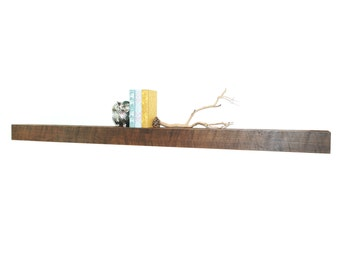"Reclaimed wood fireplace mantel or floating shelf : 48""- 72"""