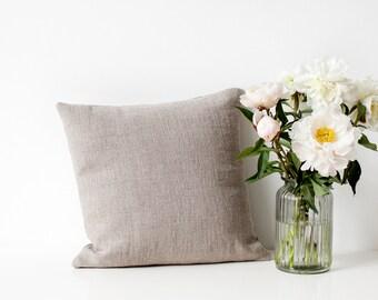 Natural Linen Pillow Cover linen