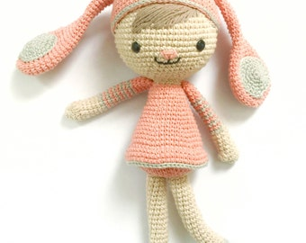 Tini, the rabbit girl-Crochet pattern/amigurumi