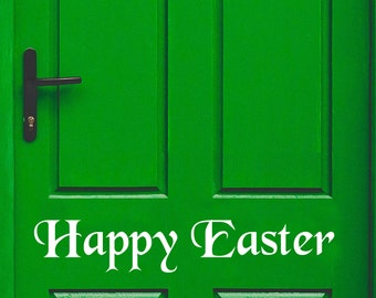 Easter Decal, Easter Door Decal, Happy Easter Decal, Front Door Decal, Easter Window Decal, Entry Way Decal, Welcome Decal, Easter Sticker