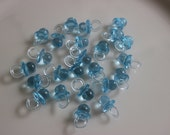 "Mini Blue Pacifiers 36 Translucent / Baby Shower / Favors / Games / Games 7/8"" Long"