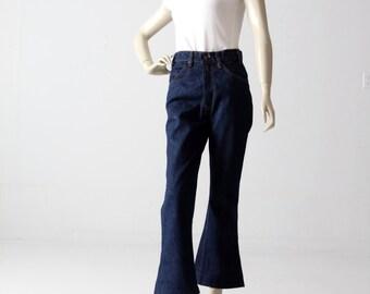 1970s Levis crop jeans, vintage 646 dark wash high waist jeans 30 x 27