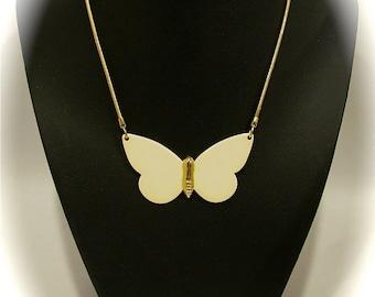 Vintage 70s CELIA SEBIRI MOD Figural Butterfly Choker Necklace