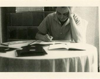 "Vintage Photo ""Morning Studies"" Snapshot Photo Old Antique Photo Black & White Photograph Found Photo Paper Ephemera Vernacular - 27"