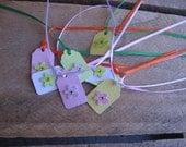 Pastel Flower Gift Tags Set of EIGHT Tiny Spring Easter Gift Tags Jewelry Gift Tags Wedding Gift Tags SnowNoseCrafts