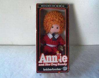 """Vintage Knickerbocker Annie Doll 9 1/2"""" 1977"""