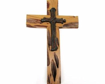 Cypress Wood Cross, Pecky Cypress Wood,  Wooden Wall Art, Rustic Religious Art - Wedding Decoration