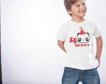 Panda Birthday Shirt - 4th Birthday Shirt (change your number - any number works) - Personalized Birthday Shirt - Panda Birthday  Party Tee