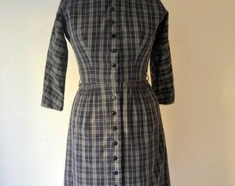 Plaid L'Aiglon Day Dress