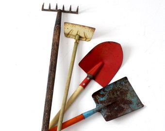 vintage children's garden tools