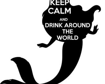 Drink Around the World- Tshirt design Little Mermaid- Ariel
