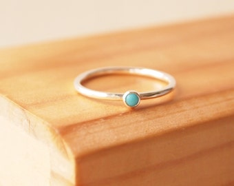 Turquoise Ring - Sterling Silver Turquoise RIng - December Birthstone ring - Ready to ship - express delivery - Birthday Gift - Gift for her